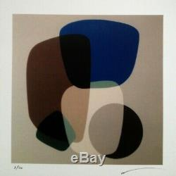 Superbe Serigraphie Originale Oeuvre Abstraite Signee Et Numerotee (3)