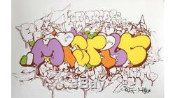 TILT & MIST sérigraphie MISTILT signée-num/200 -obey/dolk/kaws/dface/dran/C215