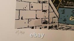 Tardi Estampe Sérigraphie originale signée numérotée 11/50 TL Nestor Burma Paris
