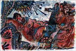 Théo TOBIASSE JUDAICA Lithographie originale signée et numérotée 61x91 cm