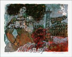 Théo TOBIASSE JUDAICA Lithographie originale signée et numérotée 76x56 cm