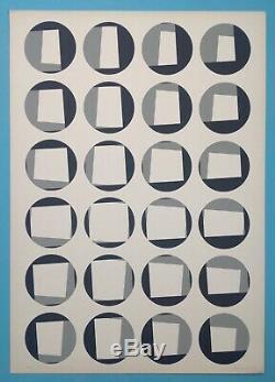 Timm ULRICHS (1940) Sérigraphie 1968 Signée crayon 100ex. Vasarely Op Art yvaral
