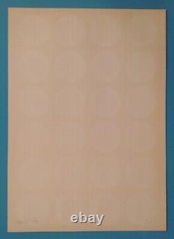 Timm ULRICHS Sérigraphie III de 1968 Signée crayon 100ex. Vasarely Op Art yvaral