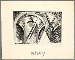 Titus Carmel Gérard Gravure signée et numérotée art abstrait abstraction lyrique