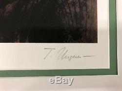 Tomi Ungerer Lithographie Maisons au Canada Slow Agony Signée tirage EA 50x34 cm