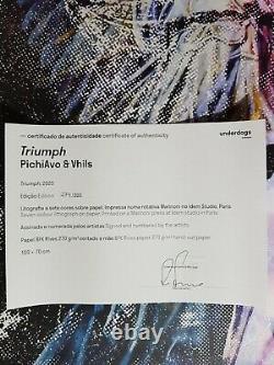 Triumph Vhils & PichiAvo Signée, numérotée et certifiée