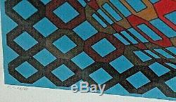 VICTOR VASARELY rare lithographie originale 1950 signée petit tirage 28/58