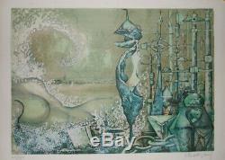 Venise est une femme Lithographie signée Patrick BRISSAUD