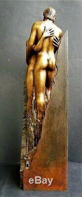 Vidal Torens(42 cm/4,5 kg)-Sculpture-Bronze-Signée-Numérotée-Couple-Nue-Erotique