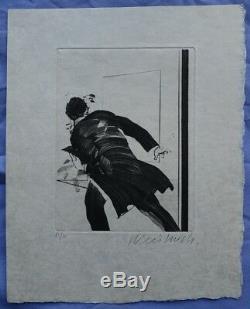 WEISBUCH Le Horla (La Fuite) POINTE SECHE Originale signée #1979 #15ex