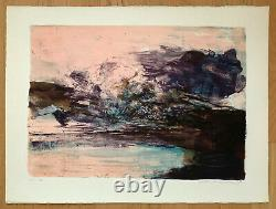 ZAO WOU KI Hand signed and numbered lithograph 1970