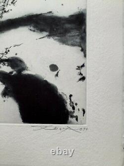 Zao Wou ki Gravure originale à l'eau-forte & aquatinte Sg & N°- Moestrup 367