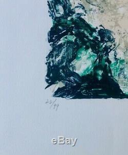 Zao wou ki- lithographie originale-1982-signée et numérotée par l'artiste
